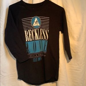 3/40 Young and Reckless 3/4 sleeve tee shirt
